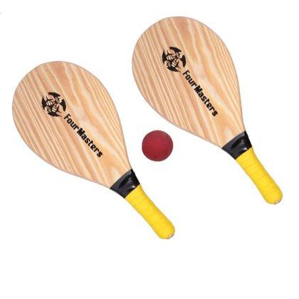 Kit Jogo Frescobol 2 Raquetes + Bola + Sacola