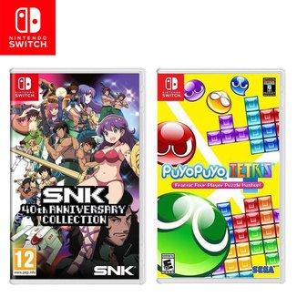 Kit Jogos Switch Snk 40Th Anniversary Collection e Puyo Puyo Tetris
