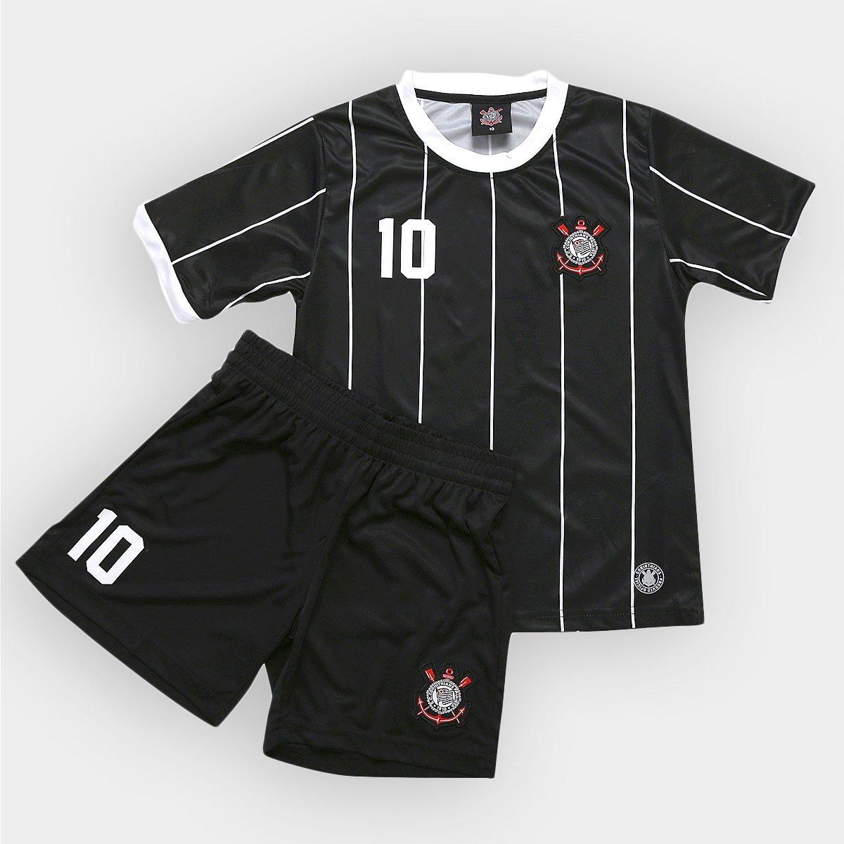 c0d98b83ae8f7 Kit Juvenil Corinthians Camiseta n° 10 + Calção - Compre Agora ...