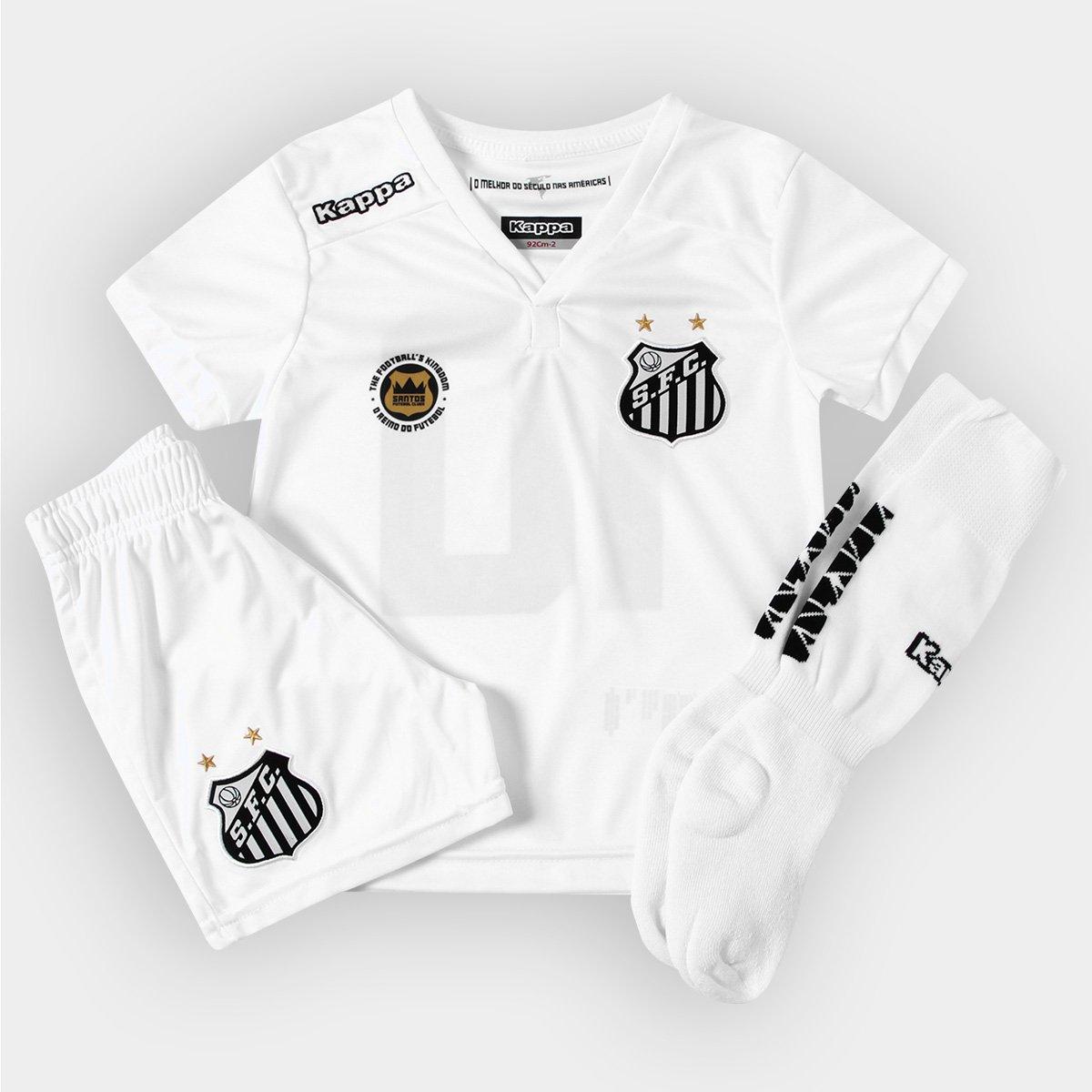 6cbc0e9eb4 Kit Kappa Santos I 2016 nº 10 - Infantil - Compre Agora