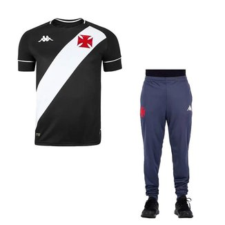 Kit Kappa Vasco 2020 Camisa I + Calça Treino C.T