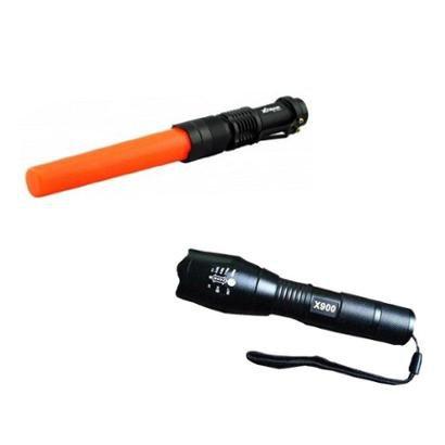 Kit Lanterna Tática Militar X900 + Lanterna Xtrad Swat
