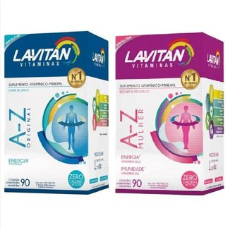 Kit Lavitan Az Mulher com 60 comprimidos + Az Homem com 60 comprimidos