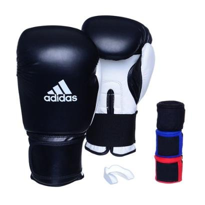 Kit Luva Adidas Power 100 Colors + 3 Bandagens + Bucal Simples - Unissex