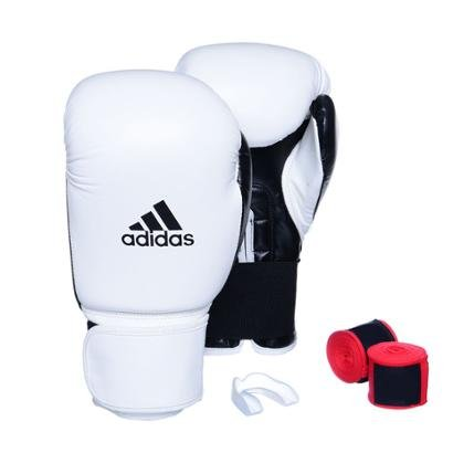 Kit Luva Adidas Power 100 Colors + Bandagem + Bucal Simples - Unissex