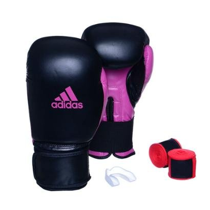 Kit Luva Adidas Power 100 Colors + Bandagem + Bucal - Unissex