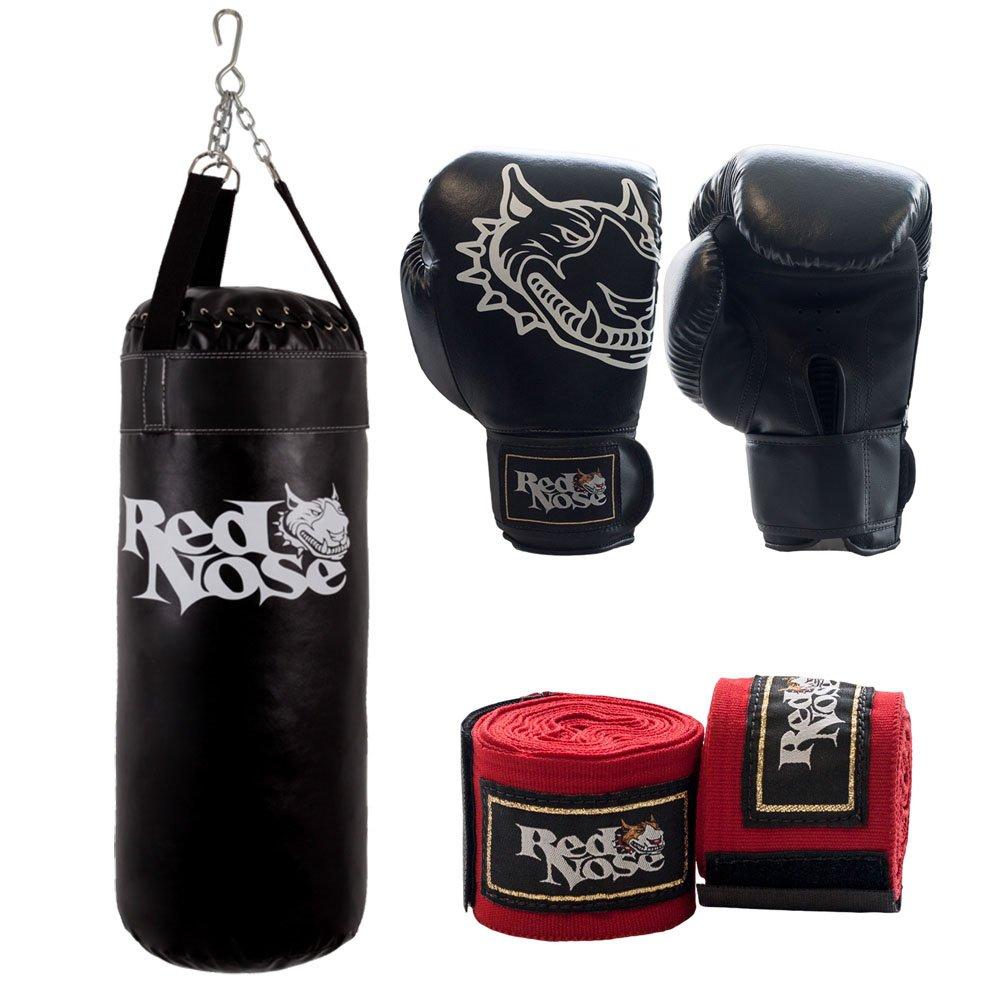 5bb3baae3 Kit Luva Boxe Muay Thai 14oz bandagem e Saco de Pancada 90 - Compre Agora