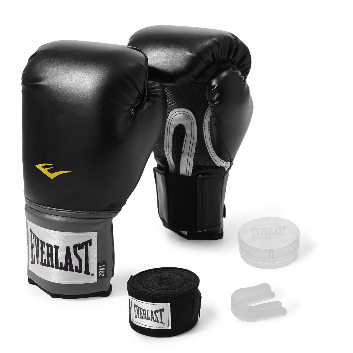 Kit Luva de Boxe Everlast Training 14Oz + Bandagem - Compre Agora ... d27682edbe521
