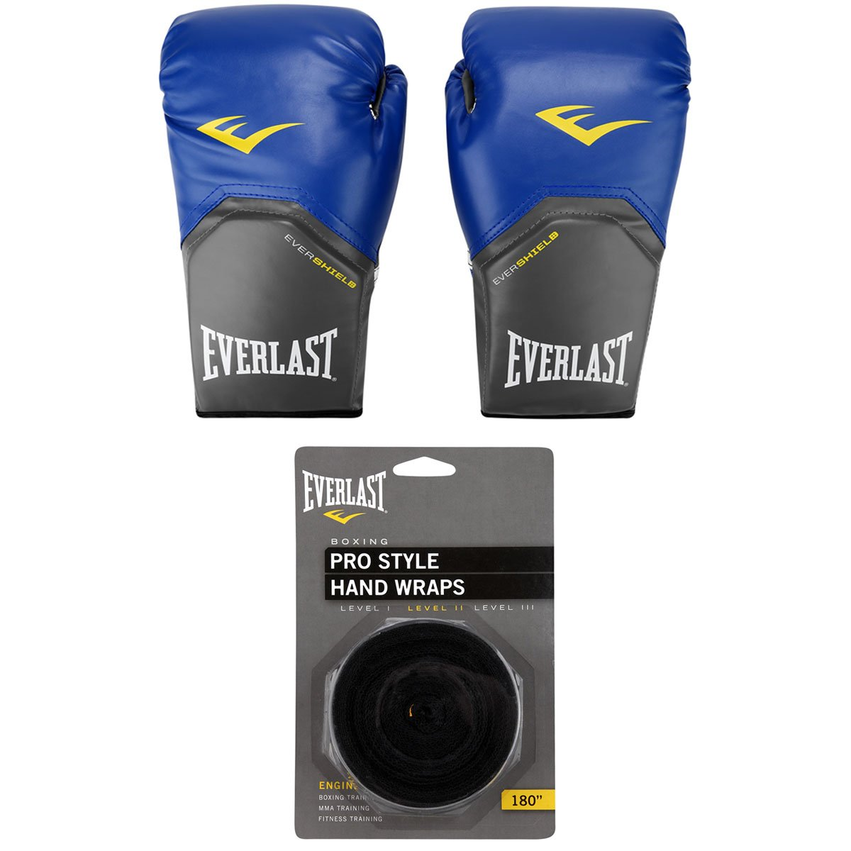 Kit Luva de Boxe Muay Thai Everlast Pro Style - 14 oz + Bandagem Elástica  ... ba2cace3af96c