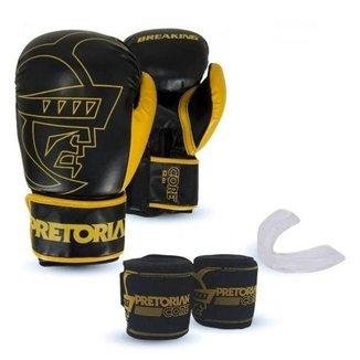 Kit Luvas Linha Core - Boxe Muay Thai - Pretorian