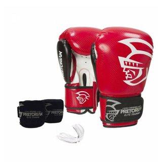 Kit Luvas Linha Elite Training - Boxe Muay Thai - Pretorian