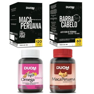 Kit Maca Premium +Barba e Cabelo +Maca Peruana +Omega Femme
