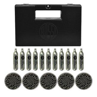 Kit Maleta Pistola Rossi + 05 Esferas de aço 6mm 200un + 10 Capsula Co2 QGK