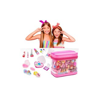 Kit Maquiagem Infantil Makebrinq Com Maleta (Bolsa) - Mk03 - Polibrinq