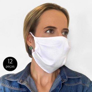 Kit Máscara de Proteção Adulto em Algodão Lavável 12 Peças Tip Top
