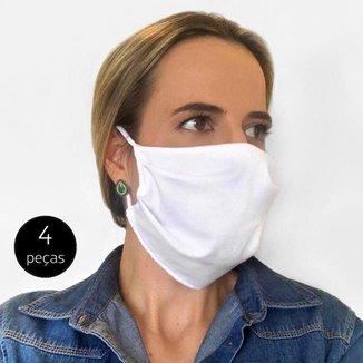 Kit Máscara de Proteção Adulto em Algodão Lavável 4 Peças Tip Top