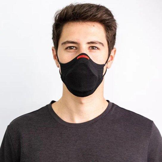 Kit Máscara Proteção Fiber Knit Air Cinza Mescla - Cinza Claro