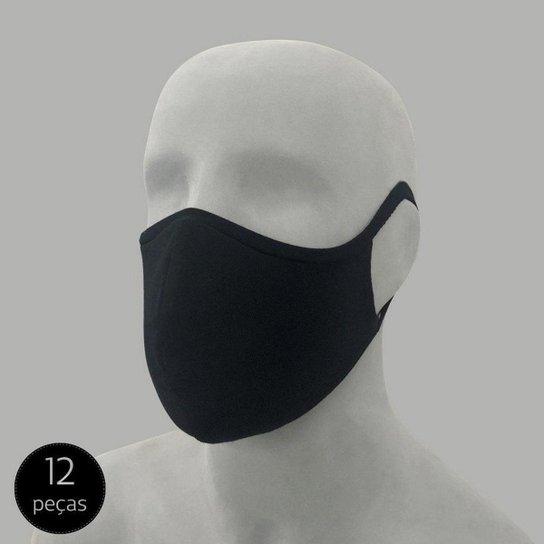 Kit Mash 12 Máscaras de Proteção - Preto