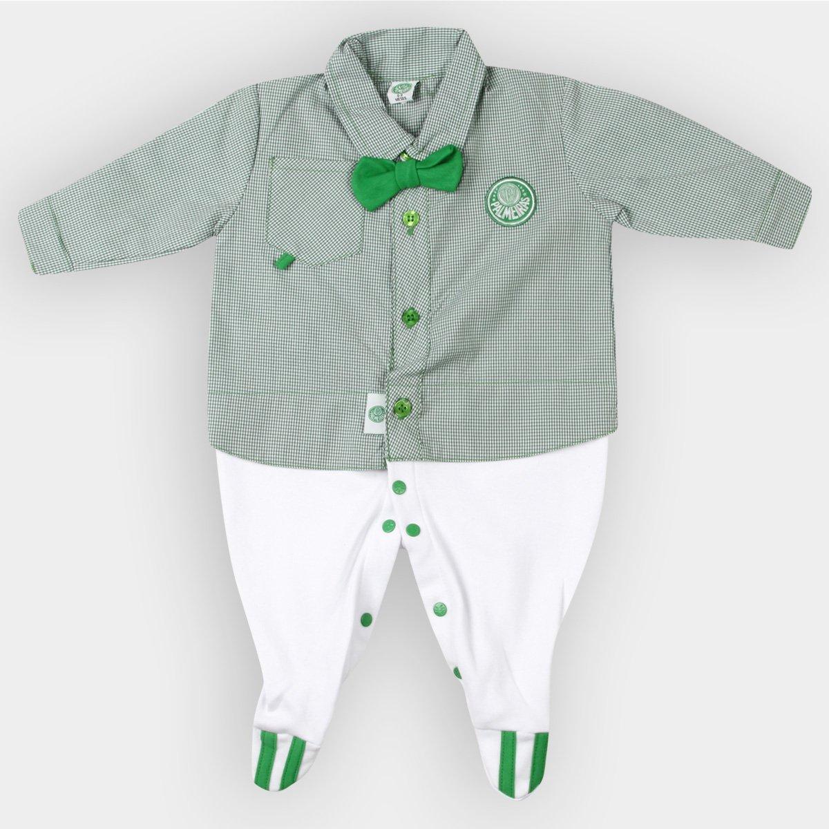 Kit Maternidade Camisa Palmeiras Bebê - Verde e Branco - Compre ... 88c68596ecc1e