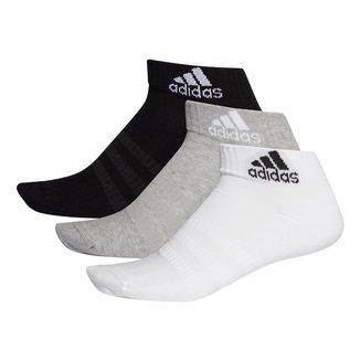 Kit Meia Adidas Cano Baixo Cush o c/ 3 pares