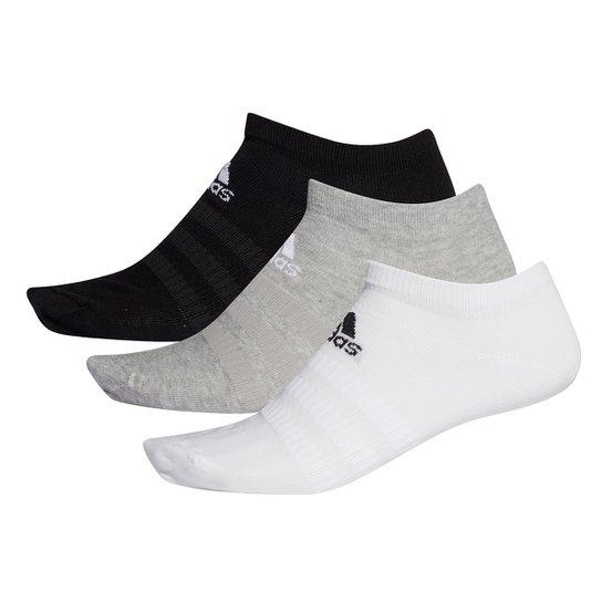Kit Meia Adidas Soquete Light Low c/ 3 pares - Mescla
