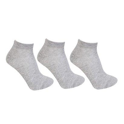 Kit Meia Asics Invisible Cotton Sports c/ 3 pares - Unissex