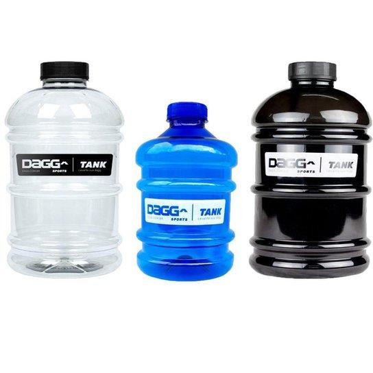 Kit Mini Galão de Água Dagg Tank 1 L Azul e Galão 2,2 L Preto e Galão 2,2 L Crystal - Azul
