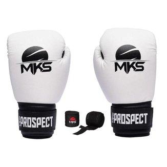 Kit MKS Luva de Boxe Prospect e Bandagem