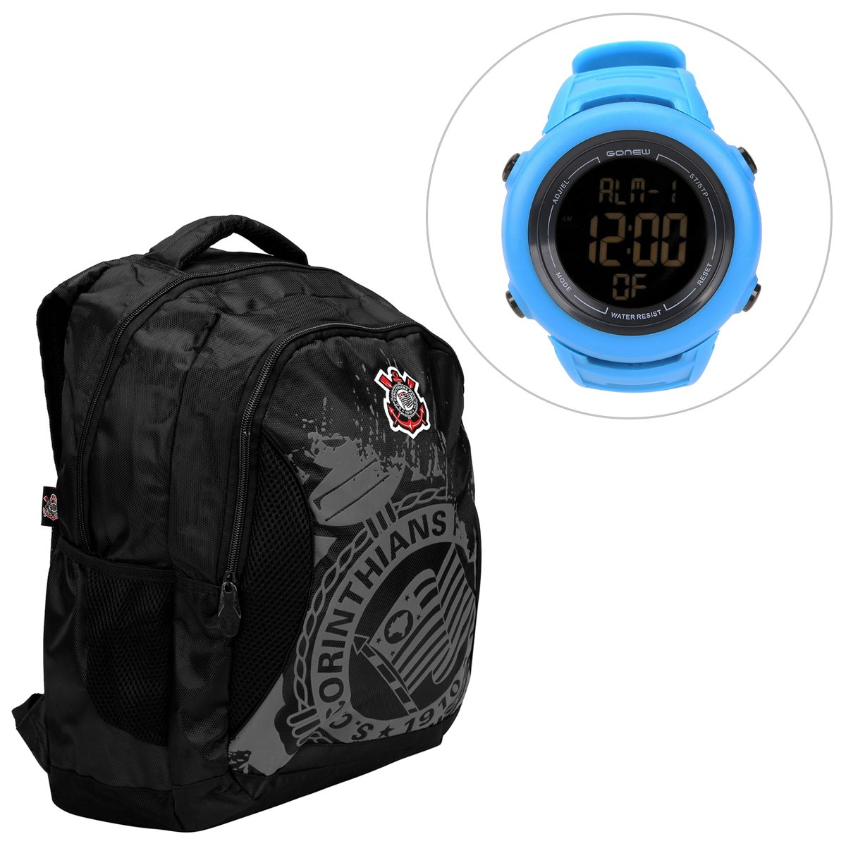 2dca6c847e Kit Mochila Corinthians + Relógio Gonew Energy 2 - Compre Agora ...