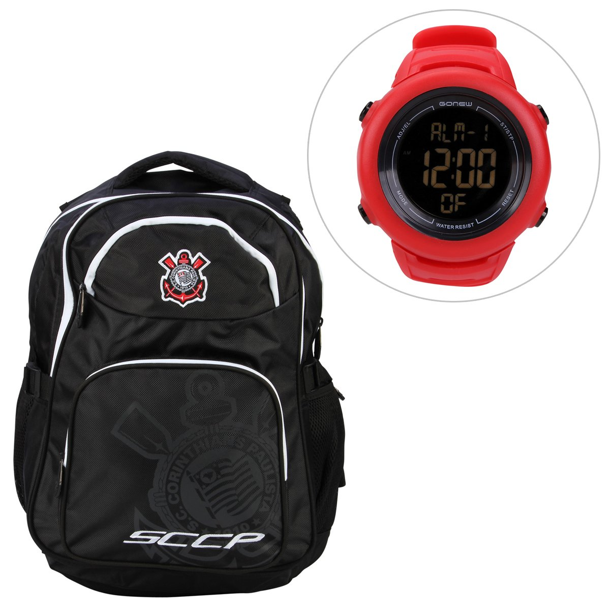 a7a723ccfbe Kit Mochila Corinthians + Relógio Gonew Energy 2 - Compre Agora ...