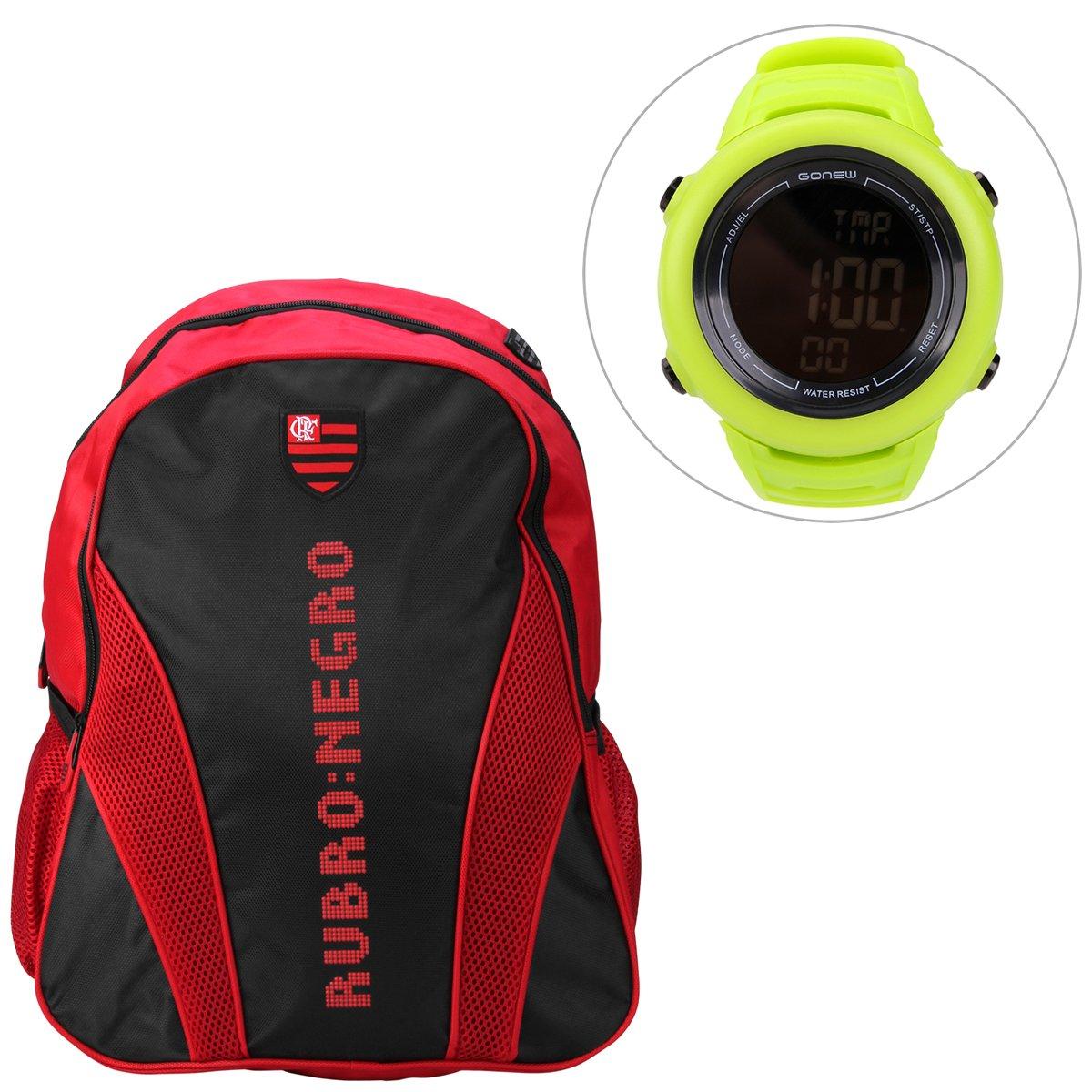 dc9ab0854e Kit Mochila Flamengo + Relógio Gonew Energy 2 - Compre Agora