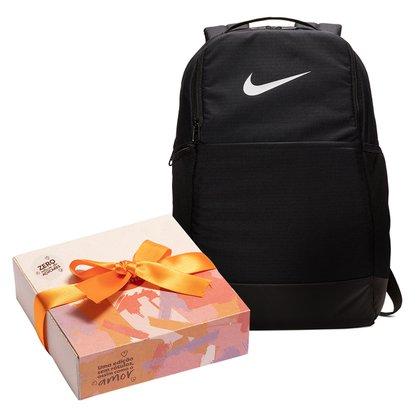 Kit Mochila Nike Brasília 9.0 24 Litros + Caixa de Bombom c/ 9 unidades