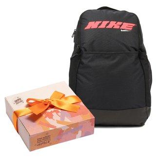 Kit Mochila Nike Brasília M 9.0 Px Gfx Sp21 + Caixa de Bombom c/ 9 unidades