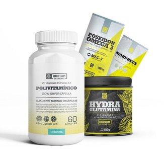 Kit Morpheus + Hydra Glutamina 150 + Polivitamínico + Poseidon Ômega 3