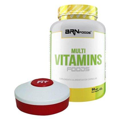 Kit Multivitaminico 90 caps + Porta Cápsulas - BRN FOODS