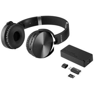 Kit Música Headphone Power Bank Cartão de Memória