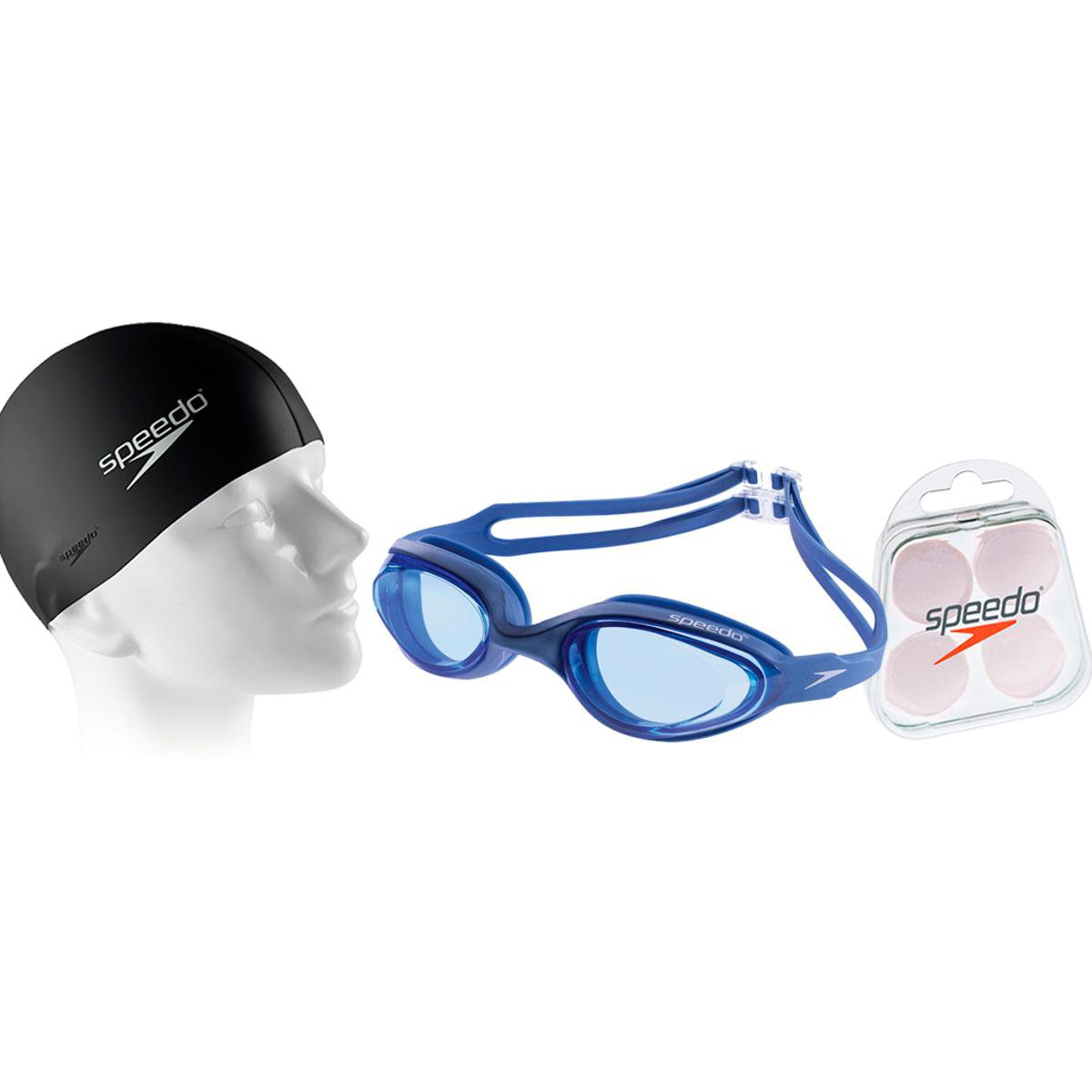 f535781cd Kit Natação com Óculos Speedo Hydrovision + Protetor + Touca - Compre Agora