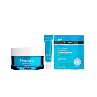 Kit Neutrogena Hidro Boost Hidartante Facial + Gel Creme Hidratante + Máscara