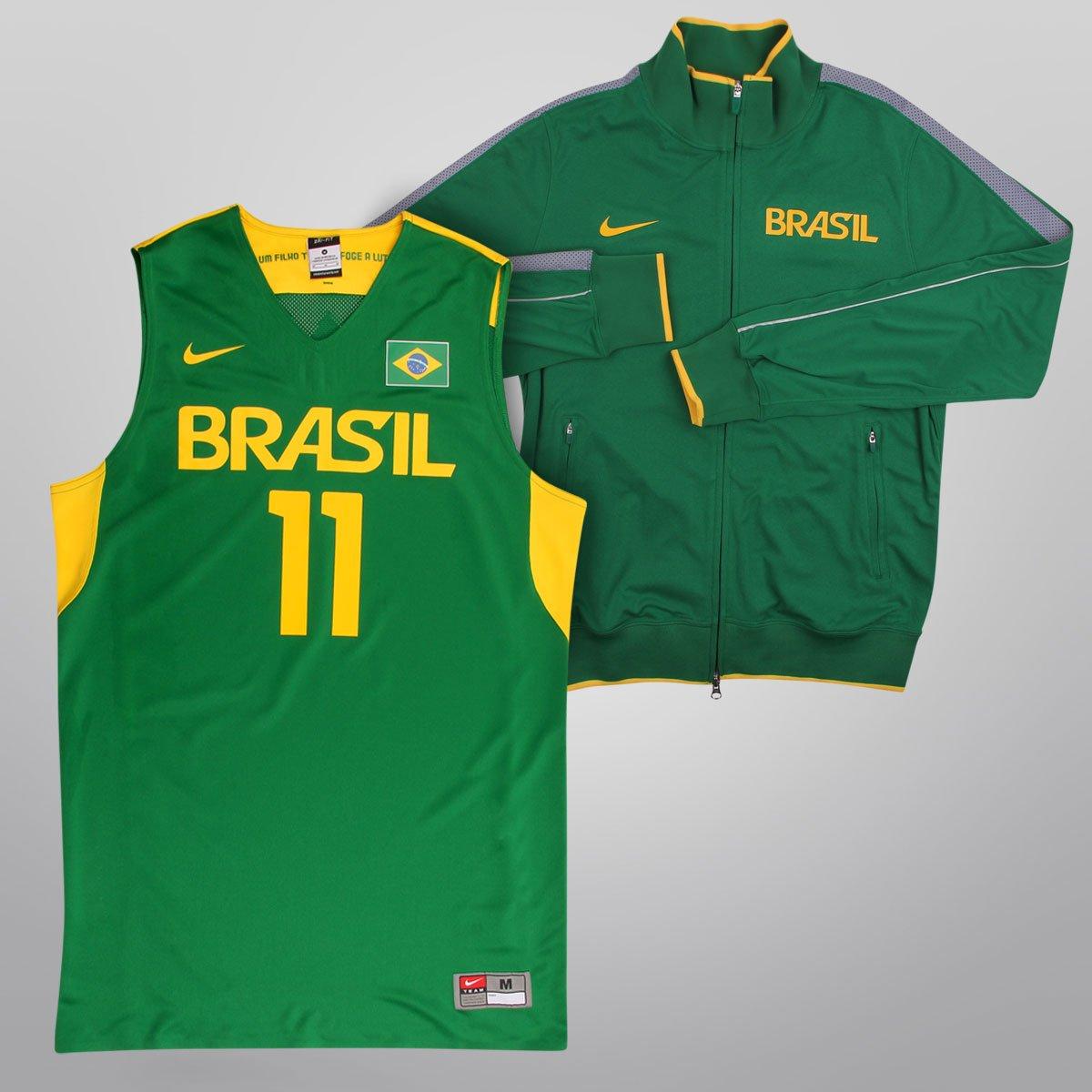 f93ac6332c Kit Nike Brasil - Camiseta Regata Jogador Seleção Brasil Basquete + Jaqueta  London PF N98 Brasil - Compre Agora