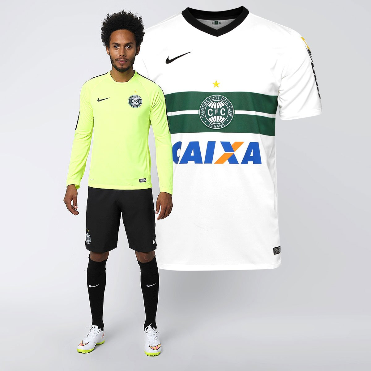 Kit Nike Coritiba - Camisa I 14 15 s nº + Camisa Treino M L - Compre Agora   32bdbc0cc195b