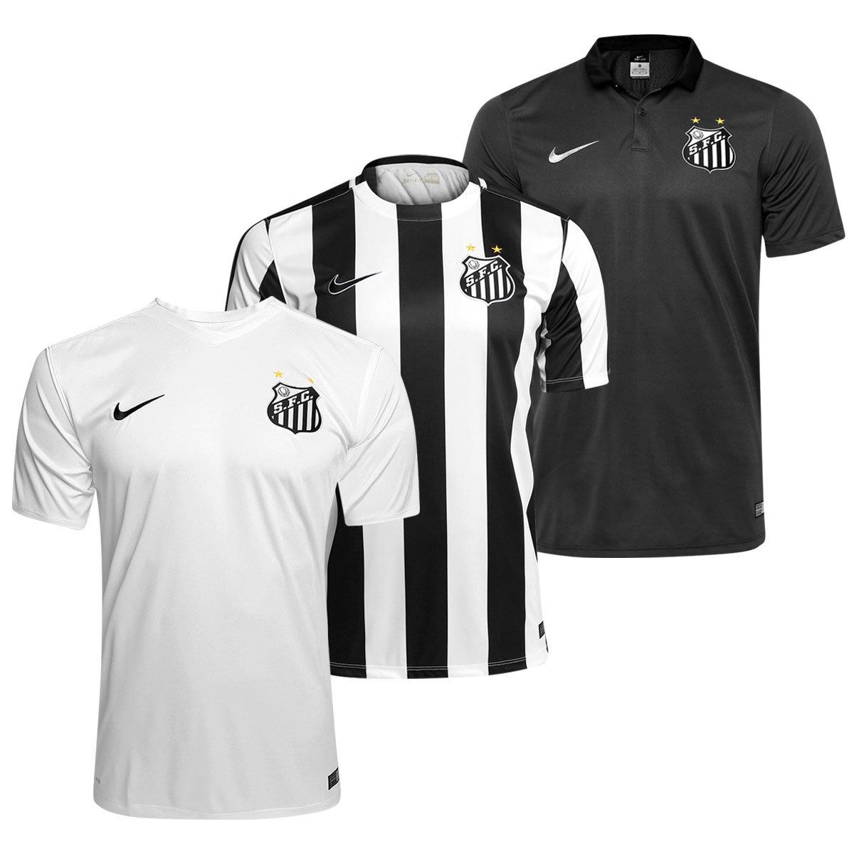 da349b50b4 Kit Nike Santos 2015 – Camisa I + Camisa II + Camisa III - Compre Agora