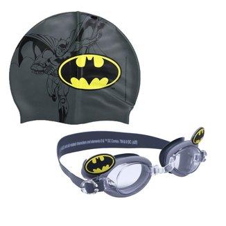 Kit Óculos e Touca de Natação Infantil Batman Anti-Embaçante