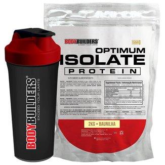 Kit Optimum Isolate Whey Protein 2kg + Coqueteleira - Bodybuilders