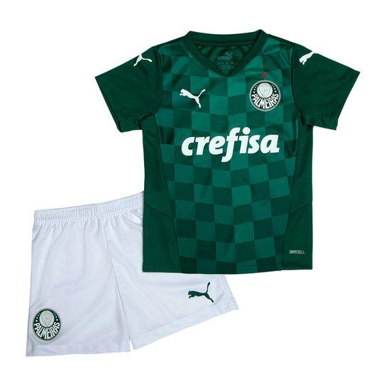 Kit Palmeiras Infantil I 21/22 s/n° Torcedor Puma - Verde