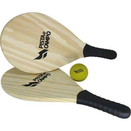 Kit Par De Raquetes De Praia Para Frescobol c/raquete e bola