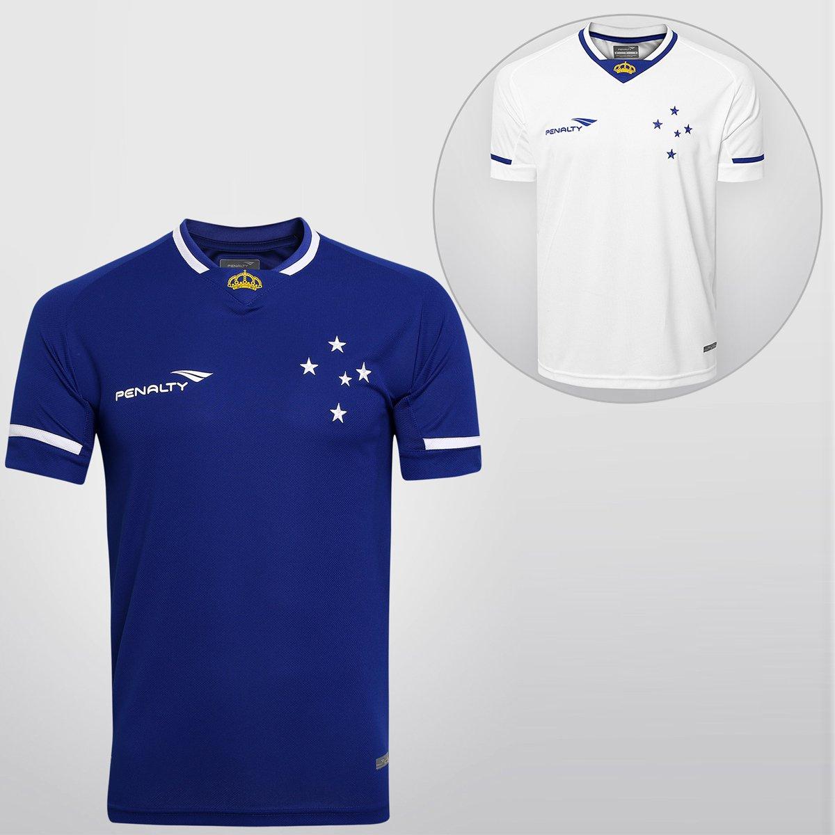 Kit Penalty Cruzeiro - Camisa I 15 16 s nº + Camisa II 15 16 s nº - Compre  Agora  7871e5969abf3