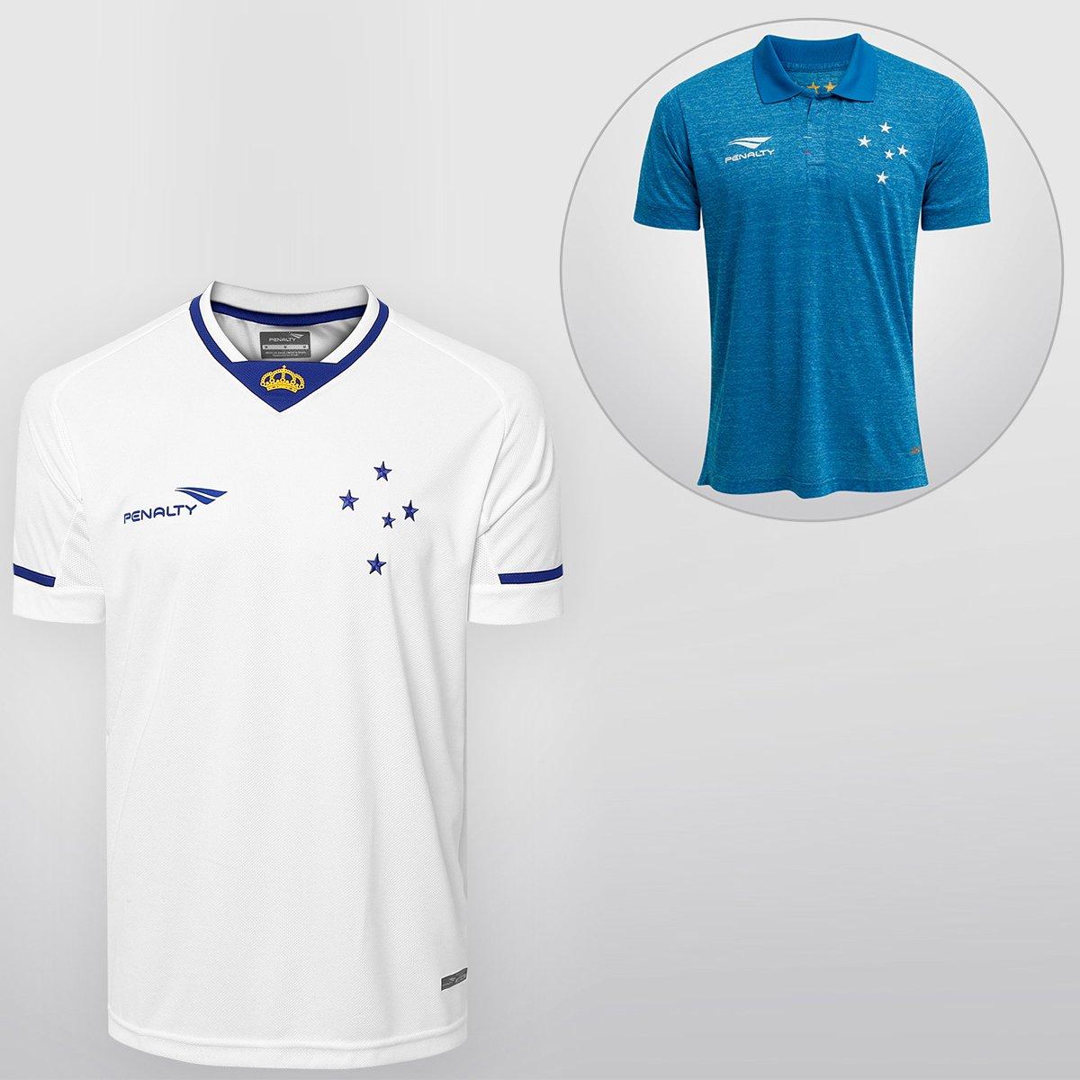 Kit Penalty Cruzeiro - Camisa II 15 16 s nº + Camisa III 15 16 s nº - Compre  Agora  3e61604656bc7