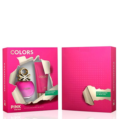 Kit Perfume Feminino Colors Pink Benetton Eau de Toilette 80ml + Body Lotion 75ml - Feminino