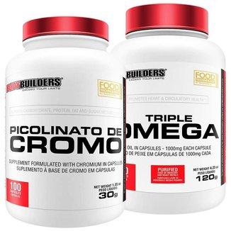 Kit Picolinato de cromo + Ômega 3 - Bodybuilders
