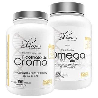 Kit Picolinato de cromo + Ômega 3 - SLIM